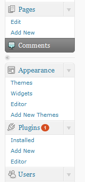 "On a self-hosted WordPress site, there is an ""Add New Themes"" link under Appearance"