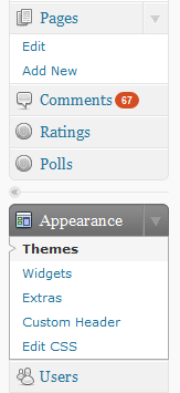 "On a WordPress.com-hosted WordPress site, there is no ""Add New Themes"" link under Appearance"
